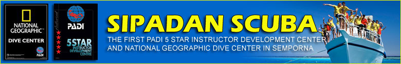 Sipadan Scuba PADI 5 Star IDC Centre in Semporna Borneo Sabah Malaysia offers padi dive courses and daily diving trips to Sipadan, Mabul and Kapalai